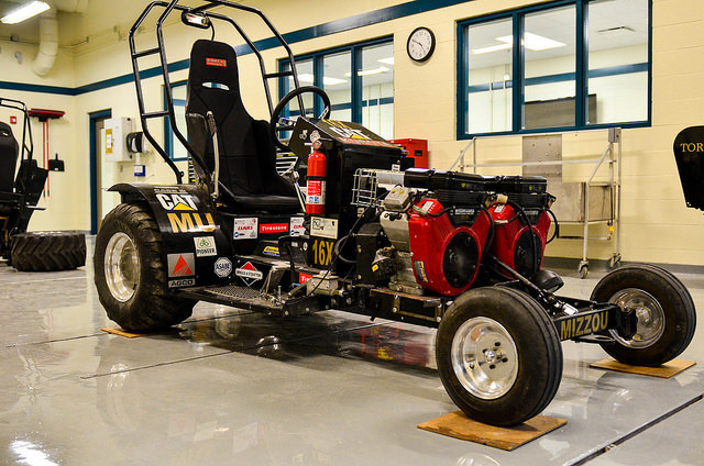 Student gain practical skills by building and racing a quarter-scale tractor.