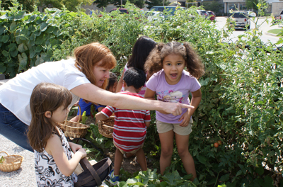 Many urban children have no experience with agriculture. The Child Development Lab adjacent to MUNCH features a miniature garden when kids get to plant and pick veggies. Developing an appreciation of food that isn't processed may be one way to help kids escape a life of obesity.