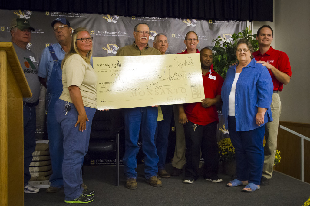 The New Madrid Fire Department was presented a check in support of helping area farmers.