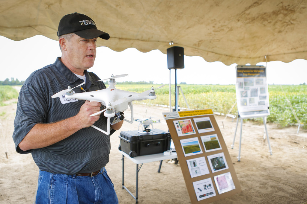 Kent Shannon, MU Extension natural resource engineering specialist, spoke about the use of UAVs in agriculture. He gave and update of the latest legislation and what the future holds for the unmanned vehicles.