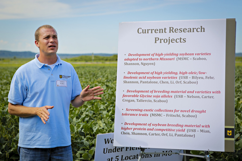 Andrew Scaboo, Senior Research Scientist - Division of Plant Sciences, spoke about his latest research in soybeans and how it can benefits producers of northern Missouri. Scaboo's breeding work is the only research for soybeans suited for northern Missouri.