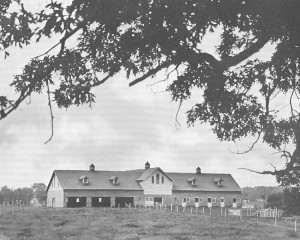 The Beef Barn still exists east of the Hearnes Center and south of the MU Healthcare campus. It was completed in 1905 at a cost of $8,315. Courtesy Campus Facilities.
