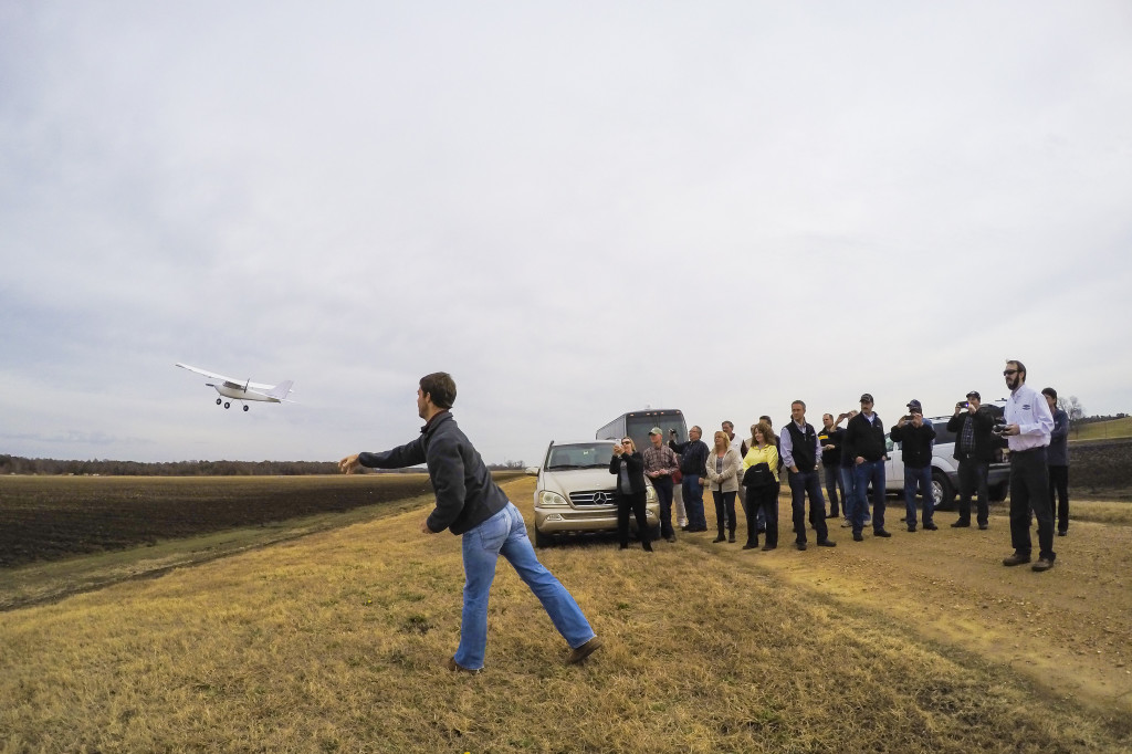 Tours of Mississippi State's North Farm included a demonstration of an UAV. The university has long had a COA from the FAA for aerial research.