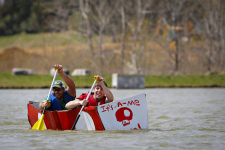 Mario's Canoe was piloted by CAFNR Student Council members.