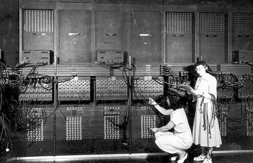 One of the first computers used to predict severe storms was based in Kansas City at the National Severe Storms Laboratory. In 1947, MU researchers began to share time and data on the lab's first computer, the ENIAC (Electronic Numerical Integrator And Computer). Courtesy NOAA.