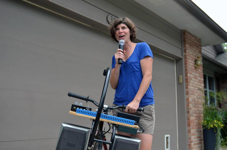 Lisa Webb Karaoke Bike 1