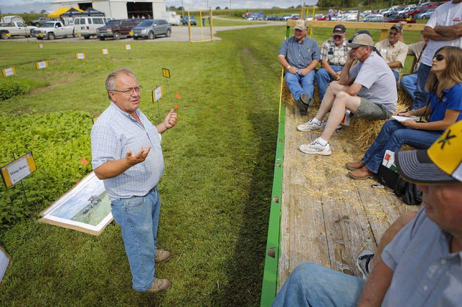 Tim Reinbott speaks during last year's Graves-Chapple Research Center Field Day.