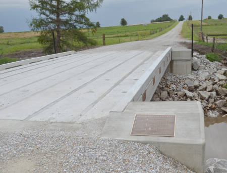 The Greenley Memorial Research Center has a new bridge, which was completed in July.
