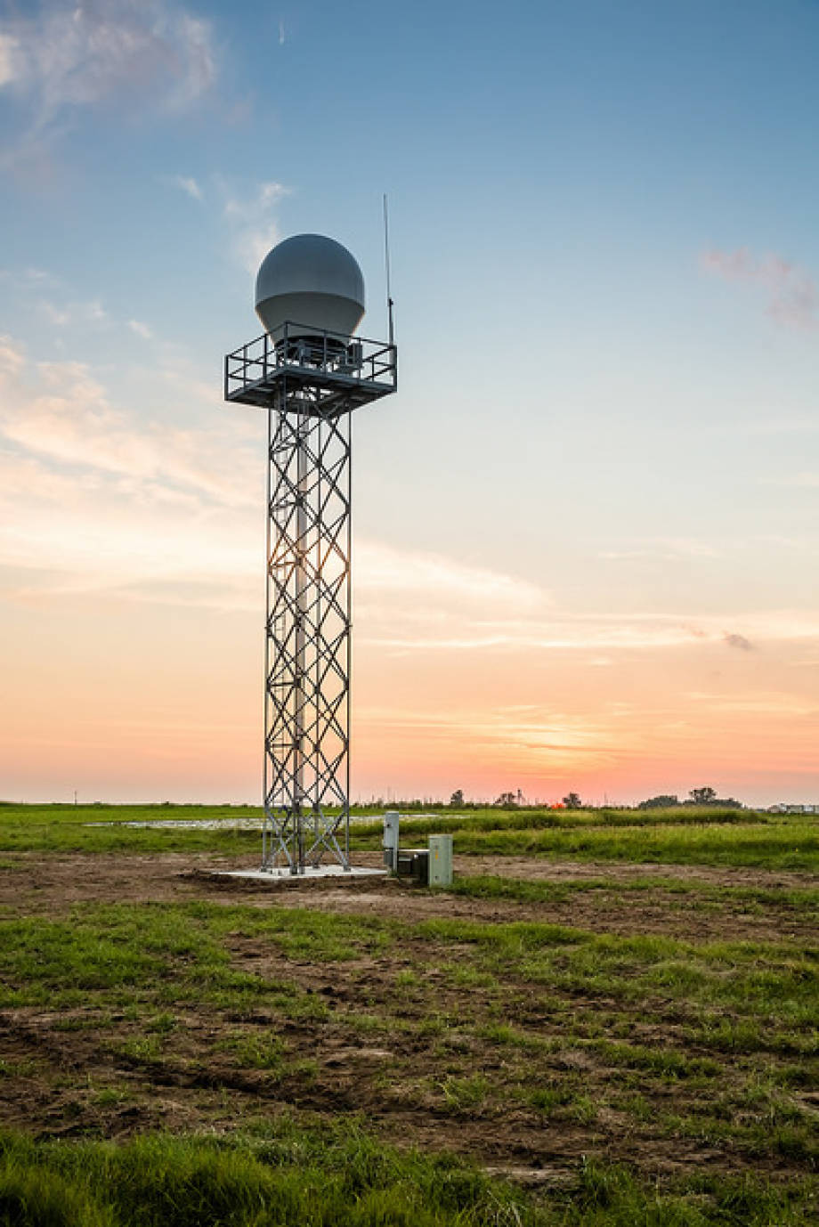 The new Doppler weather radar was installed in late June at the University of Missouri College of Agriculture, Food and Natural Resources' Jefferson Farm and Garden.