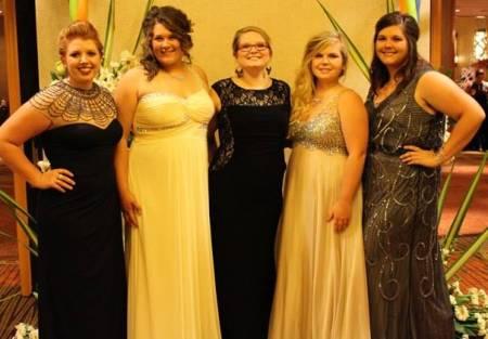 The Mizzou SAIFD Chapter sent four students to the 2015 AIFD Symposium. Pictured, left to right: senior Gina Olsen, freshman Taylor Strain, instructor Lesleighan Kraft, freshman Katie Stoops, senior Hanna Souther.