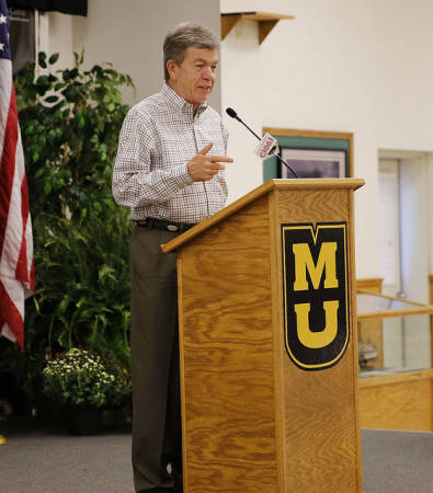 US Senator Roy Blunt speaks during the 54th annual Fisher Delta Research Center Field Day, which was held Wednesday, Sept. 2.