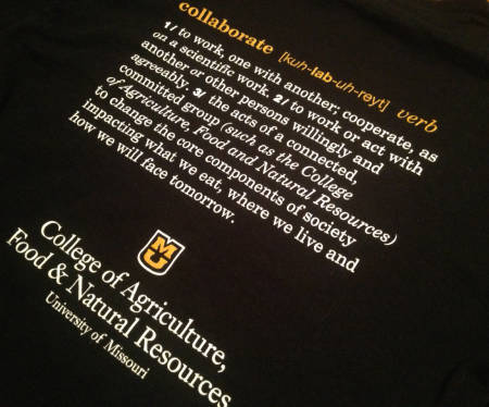 Back of new CAFNR T-shirts.