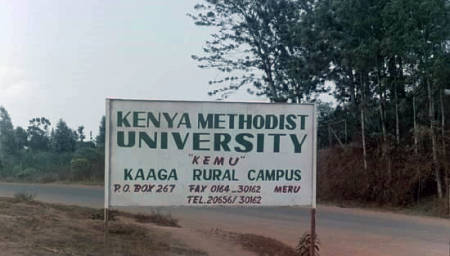 This photo of one of the sites for Kenya Methodist University was taken in June 2000. Since its opening in 1997, the university has thrived. Photo courtesy of Rodney Fink.