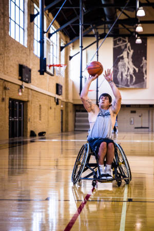 Matt Bollig, a CAFNR senior, has been playing for the MU wheelchair basketball team for three years.