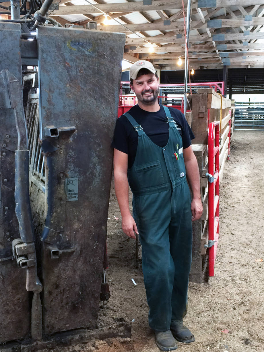 Dallas Wilson, who became the first MS/DVM program graduate in 2011, now runs a successful mobile veterinary services clinic for cattle in eastern Missouri.