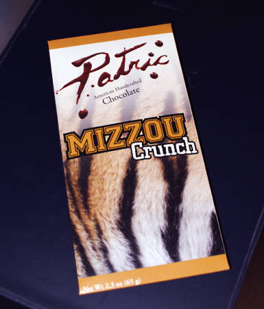 Mizzou Crunch chocolate bar created by Patric Chocolate and students