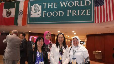 Mustapha and scholars at World Food Prize
