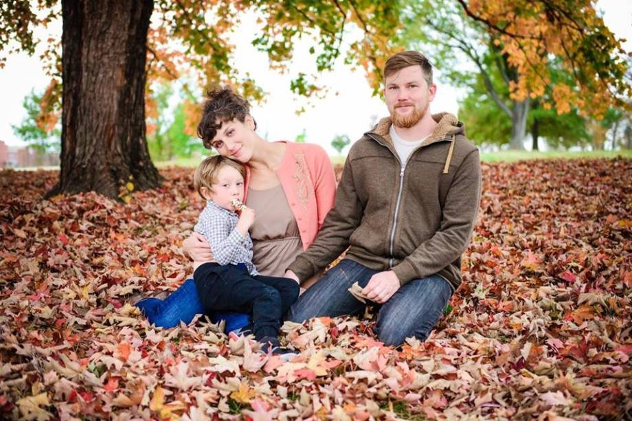 Besides being a graduate student and metal musician, Mark Kloeppel also finds time to spend with his wife, Veronica, and their son, Avi. Photo by Ashley Curtis courtesy of Mark Kloeppel.