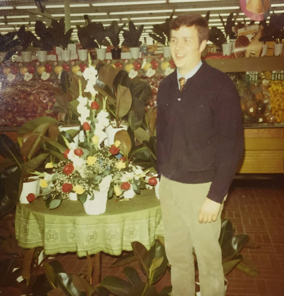 Robert K. Schattgen started as a florist in 1970s aat Nowell's Flower Shop. Photo courtesy of Sharon Ford Schattgen.