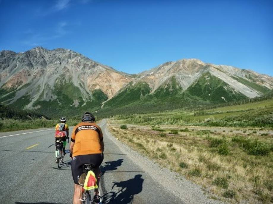 Geisert said the most beautiful brevet he's competed in was Alaska. He said the weather and scenery were perfect. Photo courtesy of Rodney Geisert.