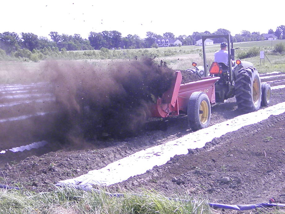 Bradford uses the compost made from food waste to grow more vegetables at the Research Center. Photo courtesy of Tim Reinbott.