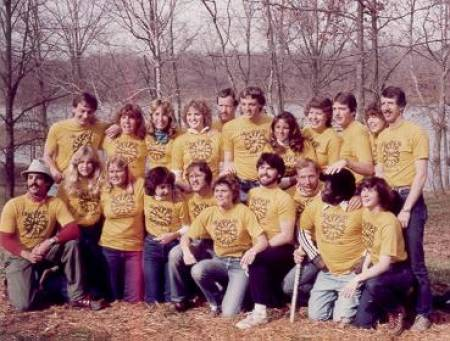 Students with faculty member Marshall Masek (back row, far right) at a consortium he started with Penn State, North Carolina State, and Indiana. The groups would meet in Kentucky at the Land Between the Lakes. The consortium moved to the Great Smoky Mountains National Park in 2006 -- current participating schools are Mizzou, Western Illinois, North Carolina State, Penn State and East Carolina.