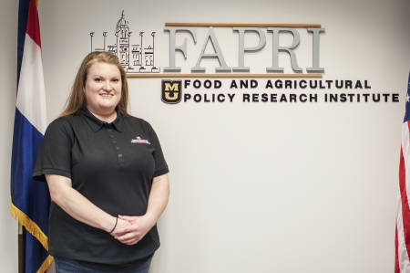 Lauren Jackson has been the business support specialist for the Food and Agricultural Policy Research Institute since 2012. Photo by Nate Compton.