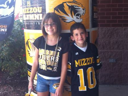 Fara and Richard have two children, Annabelle and Jackson, who are both huge Mizzou fans. Photo courtesy of Maltsbarger family.