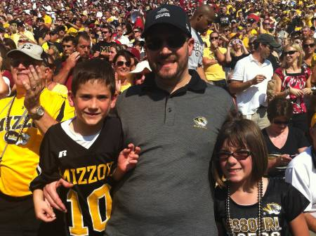The Maltsbarger family continues to support Mizzou as often as they can. Photo courtesy of Maltsbarger family.