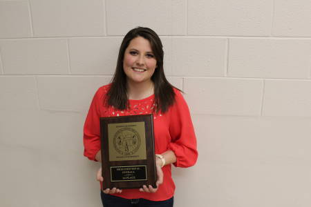 Senior Katelyn Adams won High Individual Overall at the Southeastern Intercollegiate Competition, assisting her team in winning First High Team Overall.