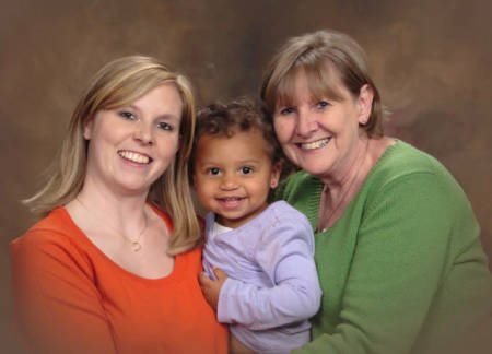 Stephanie Sanders poses with her daughter, Serenity Berry, and her mother, Sandy Zaring. Photo courtesy of Stephanie Sanders.