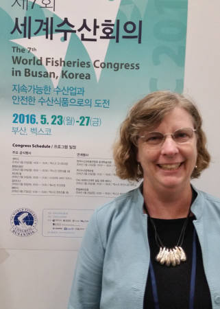 Assistant Research Professor Jodi Whittier attended the World Fisheries Congress in Busan, South Korea, with her colleague and husband Craig Paukert.