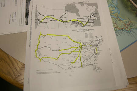 This map shows the Amtrak routes across the United States. The highlighted routes are ones Borgelt has traveled on.