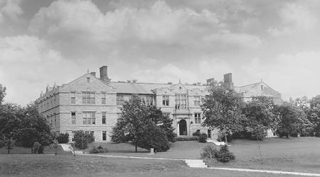 Schweitzer Hall, before its opening in 1912. The building was named after Paul Schweitzer, first chair of agricultural chemistry. Photo courtesy of University Archives.