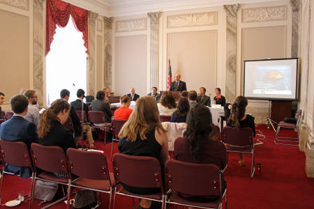 Researchers presented findings of fish and the effects of climate change to congressional staff members at Capitol Hill on June 13, 2016.