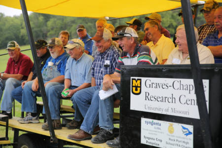 Tours at the Graves-Chapple Research Center Field Day included presentations on soil health, cover crops, insect issues and production costs.
