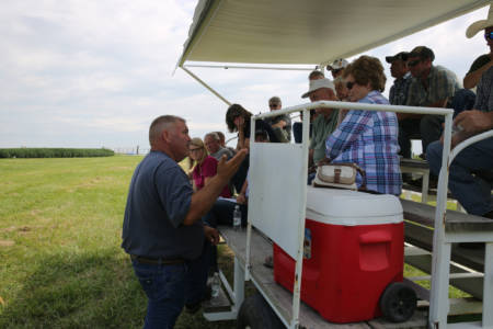 Forage Systems Research Center Superintendent David Davis presented on toxic plants and substances for beef cattle during the 39th annual Greenley Research Center Field Day.