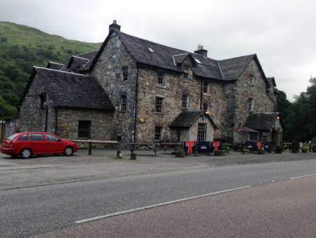 One of the stops along the Smiths' journey was The Drover's Inn, which was built in 1705. Photo courtesy of Mike Smith.