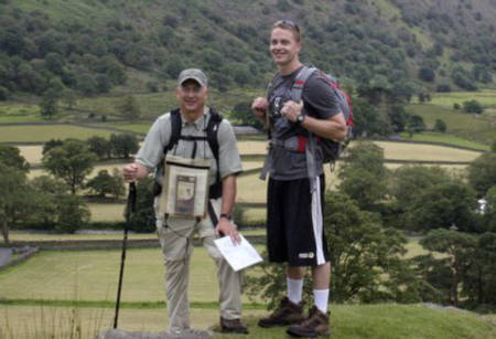 Mike Smith and his son, Nathan, completed a 200 mile walk through England in 2011. Photo courtesy of Mike Smith.