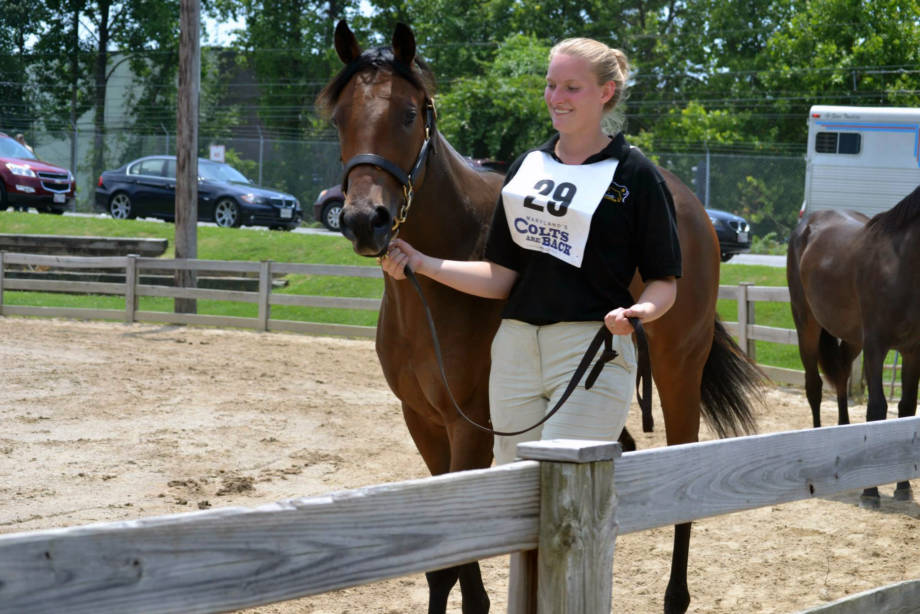 Natalie Duncan worked with horses from many famous bloodlines, including Cathryn Sophia (pictured) who won the 2016 Kentucky Oaks. Photo courtesy of Natalie Duncan.