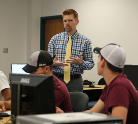 Brian Robertson recently taught two of the four courses for the Precision Agriculture Certificate. His courses deal with the basics of precision agriculture and the business side of precision agriculture. Photo by Logan Jackson.