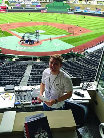 Student interning at Kauffman Stadium, home of the Kansas City Royals