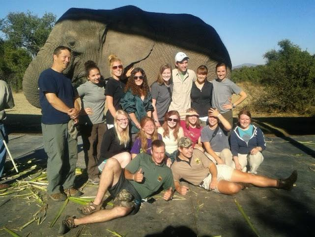 South Africa study abroad group.