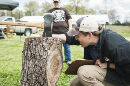 MU Forestry Club Faculty Advisor Ben Knapp worked with STIHL and ESPN on the event.