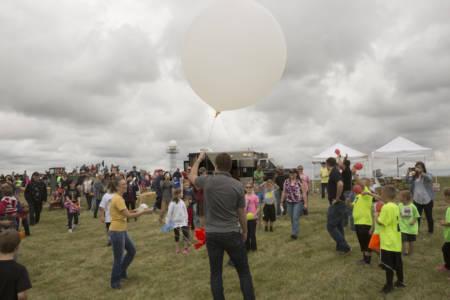 The 10th annual South Farm Showcase, held on Saturday, Oct. 1, featured a balloon launch from the weather vehicle.