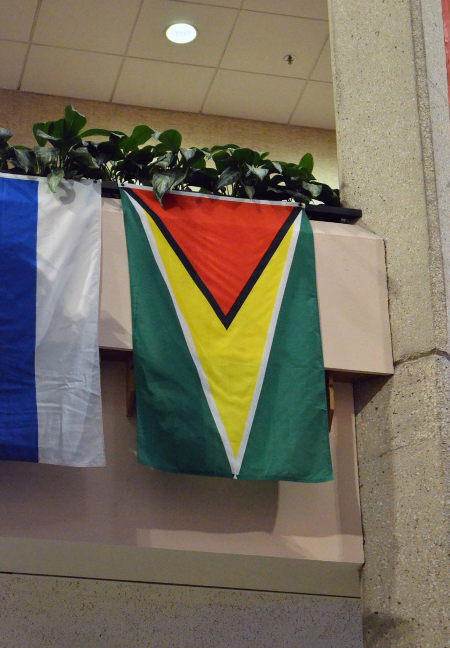 The flag of Guyana was among those spotted at The World Food Prize.