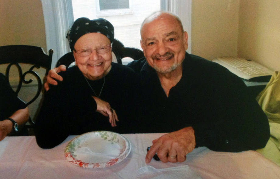 Joe Polacco and his mother, Vina, on her 87th birthday on May 25, 2012. Photo courtesy of Joe Polacco.