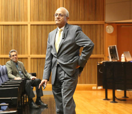 Ramaswamy discussed food security issues that are facing the world during his seminar on Friday, Nov. 4.