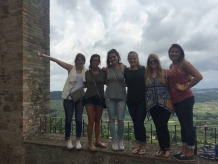 Students took part in a summer study abroad opportunity in Italy.