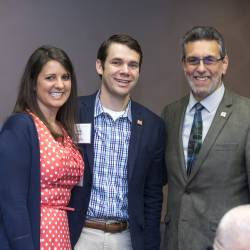 Doug and Emily Kueker, new annual members, with Marc Linit